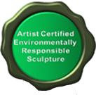 Nicholas Price Sculpture- Artist Certified Environmentally Responsible Sculpture